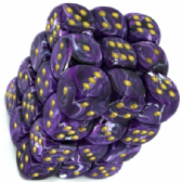 Purple & Gold Vortex 12mm D6 Dice Block
